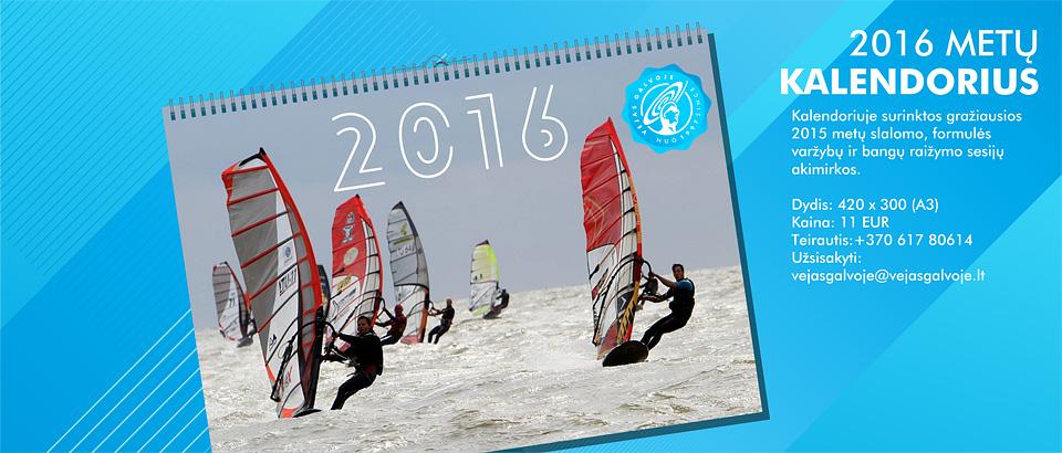 2016 burlentes kalendorius