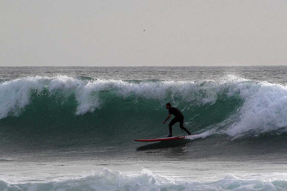 Tokia banga ateina tada kai turi ateiti. Prieš pusvalandį čia buvo pusmetrinės bangelės.